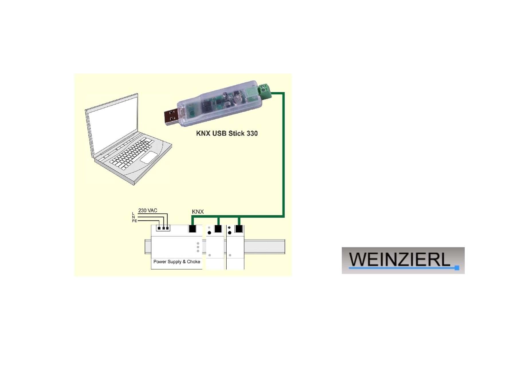 KNX USB-gränssnitt 330 från Weinzierl