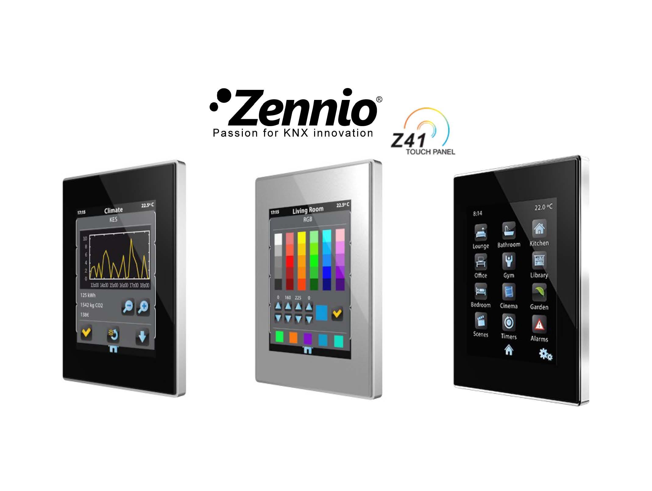 Zennio Z41PRO Färg Touchpanel
